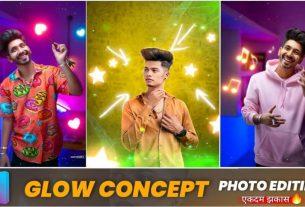 glow concept photo editing