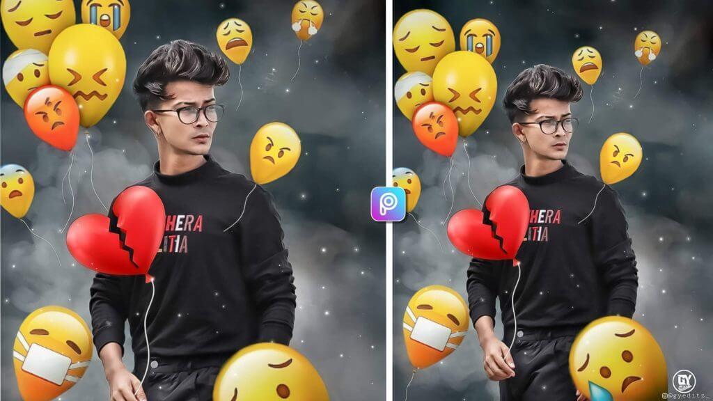 balloon emoji photo editing