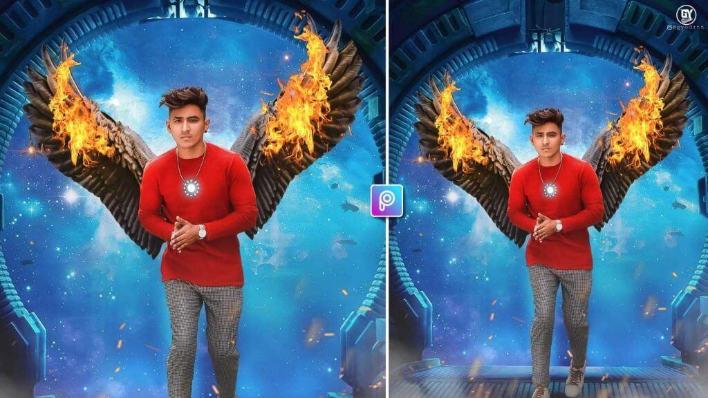 Wings photo editing