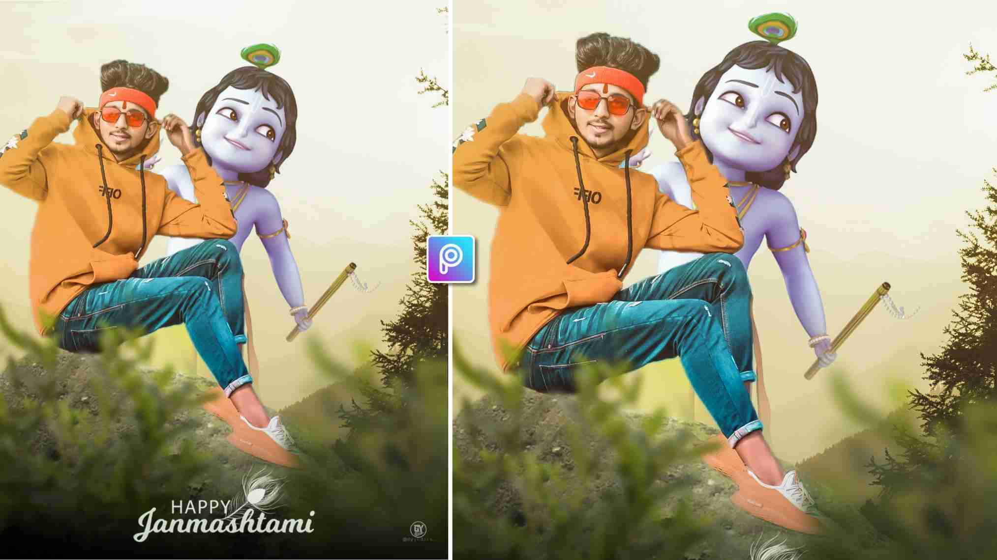 Krishna Janmashtami Photo Editing
