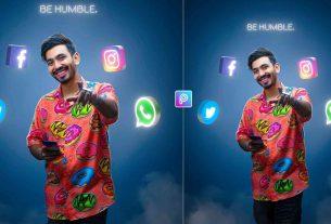 social media glowing photo editing