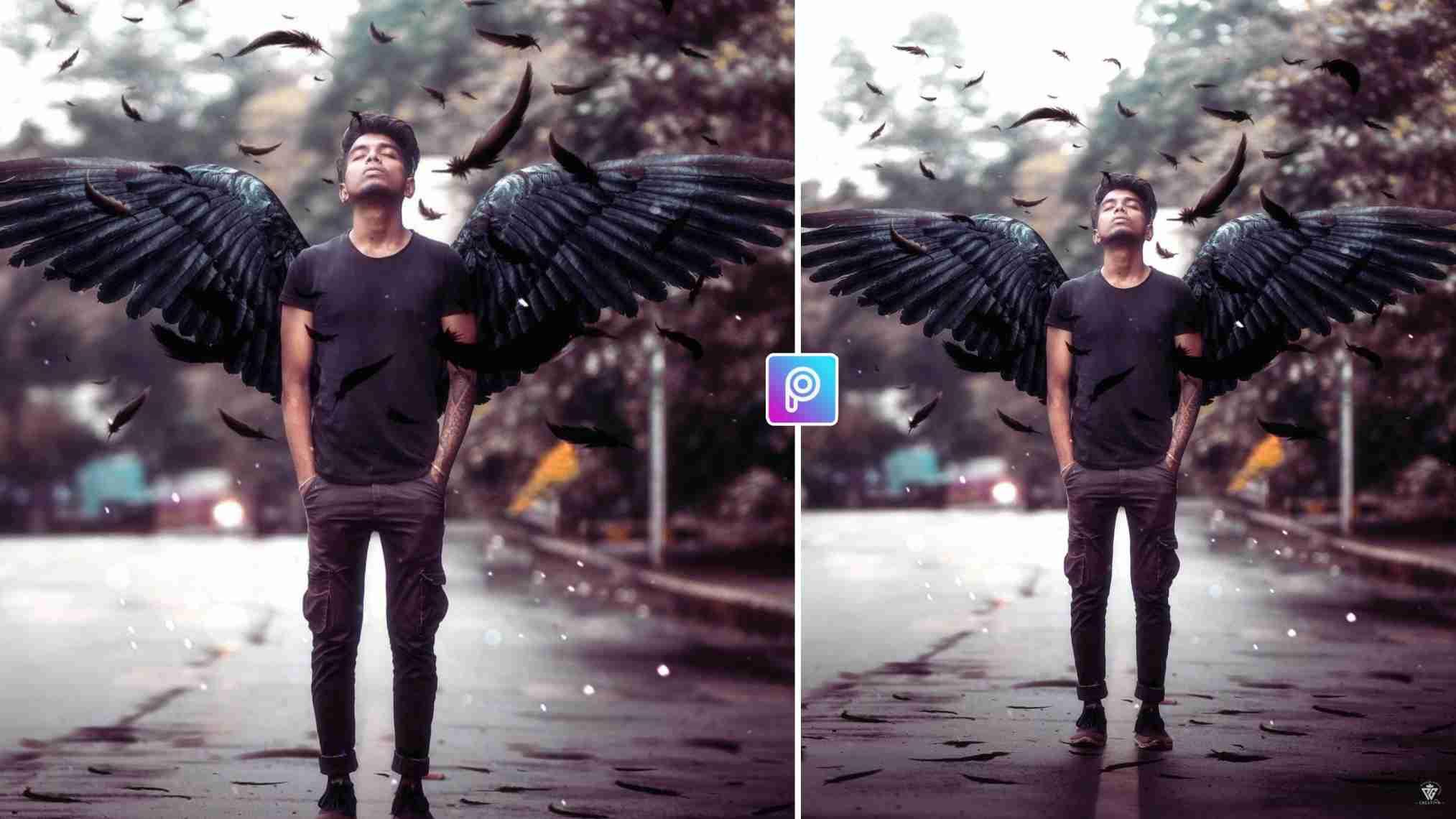Devil Wings Photo Editing