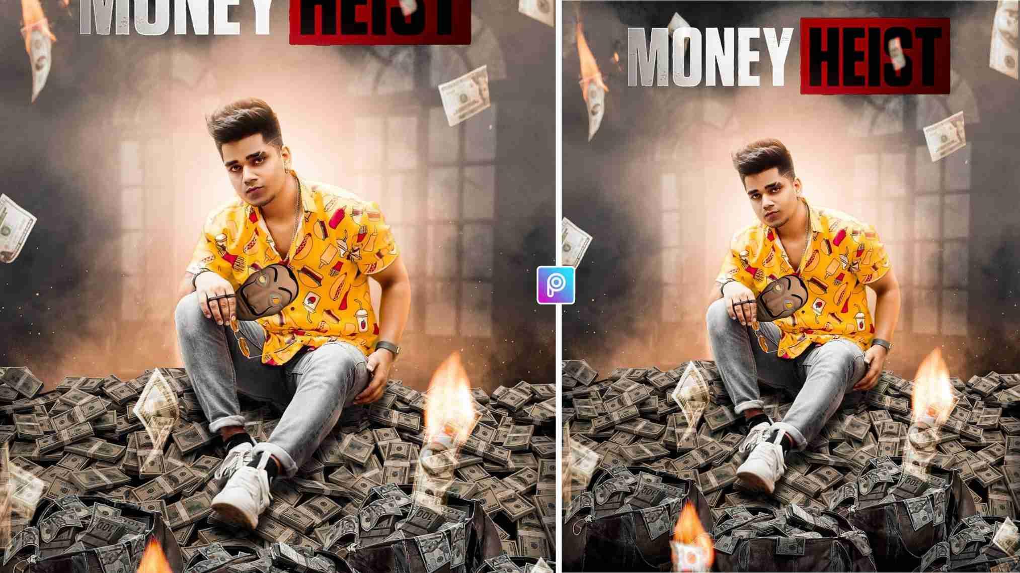 Money Heist Photo Editing
